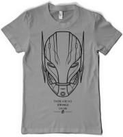 Rawpockets Graphic Print Men's Round Neck Grey T-Shirt