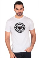 Anger Beast Printed Mens Round Neck White T-Shirt