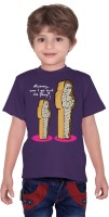 Tantra Boys Graphic Print T Shirt(Purple, Pack of 1)