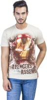 Avengers Printed Men's Round Neck White T-Shirt