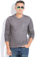 GAS Solid Mens Round Neck Grey T-Shirt
