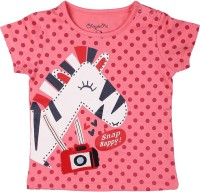 Chirpie Pie by Pantaloons Girls Applique T Shirt(Orange)