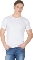 Hypernation Solid Men's Round Neck White T-Shirt