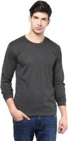 Izinc Solid Men's Round Neck Grey T-Shirt