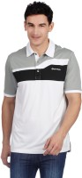 TaylorMade Printed Mens Polo Neck Grey T-Shirt