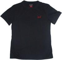 2swords Solid Men Round Neck Black T-Shirt