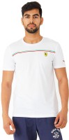 Puma Solid Men's Round Neck White T-Shirt
