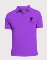 Elaborado Solid Men's Polo Neck Purple T-Shirt