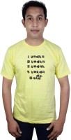 SVX Printed Men Round Neck Yellow T-Shirt