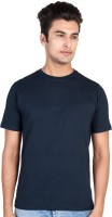 HooBoo Solid Men's Round Neck Blue T-Shirt