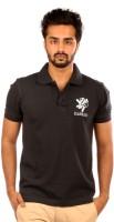 Elaborado Solid Men's Polo Neck Black T-Shirt