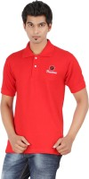 Fleximaa Solid Men's Polo Neck Red T-Shirt
