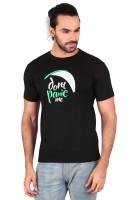 Anger Beast Printed Men's Round Neck Black T-Shirt