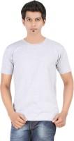 Fleximaa Solid Men's Round Neck Grey T-Shirt