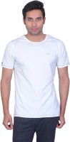 Proline Solid Men's Round Neck White T-Shirt