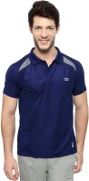 Ajile by Pantaloons Solid Men's Polo Neck Blue T-Shirt