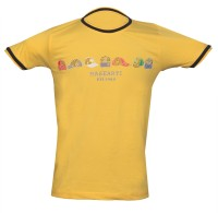 Awack Boys Printed Cotton T Shirt(Yellow, Pack of 1)