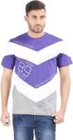 Al-Harsha Trend Printed Men's Round Neck Purple, White, Grey T-Shirt