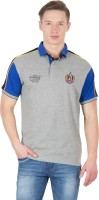 Wilkins & Tuscany Solid Men's Polo Neck Grey T-Shirt