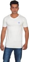 DoubleF Solid Men's Round Neck White T-Shirt
