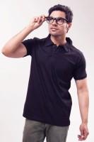 Unisopent Designs Solid Men's Polo Neck Blue T-Shirt