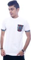 Urban Flux Solid Men Round Neck White T-Shirt