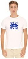Giftsmate Printed Men's Round Neck White T-Shirt