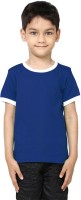 99Tshirts Boys Solid Cotton T Shirt(Blue, Pack of 1)