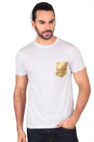 Anger Beast Solid Mens Round Neck White T-Shirt