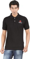 Fleximaa Solid Men's Polo Neck Black T-Shirt
