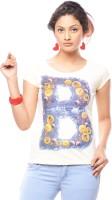 Trendy Girlz Graphic Print Womens Round Neck White T-Shirt