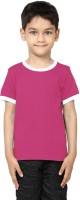 99Tshirts Boys Solid Cotton T Shirt(Pink, Pack of 1)