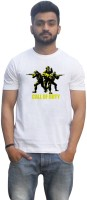 Lovely Collection Graphic Print Mens Round Neck White T-Shirt