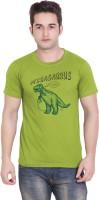 Tantra Graphic Print Men's Round Neck Light Green T-Shirt