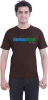 Tantra Graphic Print Men's Round Neck Brown T-Shirt