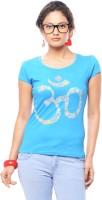 Trendy Girlz Graphic Print Women's Round Neck Blue T-Shirt