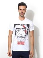 Smugglerz Inc. Graphic Print Men Round Neck White T-Shirt