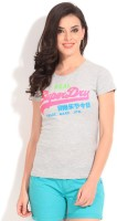 Superdry Printed Women's Round Neck Grey T-Shirt