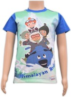 Chhota Bheem Boys Printed Cotton T Shirt(Multicolor, Pack of 1)