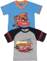Disney Cars Boys Printed T Shirt(Black)
