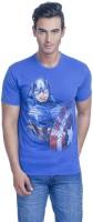 Avengers Printed Mens Round Neck Blue T-Shirt