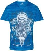 Huetrap Graphic Print Men's V-neck Blue T-Shirt
