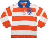 Chalk by Pantaloons Boys Striped T Shirt(Orange, Pack of 1)