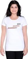 Tantra Graphic Print Women's Round Neck White T-Shirt