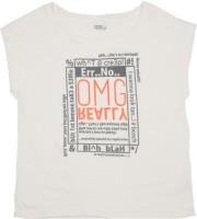 People Girls Printed T Shirt(White)