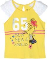 Chirpie Pie by Pantaloons Girls Graphic Print T Shirt(Yellow)