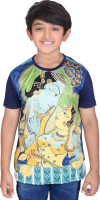 Tantra Boys Graphic Print Polyester T Shirt(Dark Blue, Pack of 1)