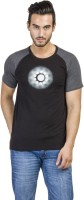 Avengers Printed Men's Round Neck Black T-Shirt