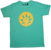 Udankhatola Printed Men's Round Neck Light Green T-Shirt