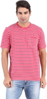 Furore Striped Men's Round Neck Red T-Shirt